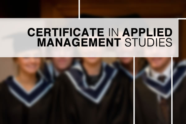 Certificate in Applied Management