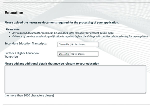 Help with college application