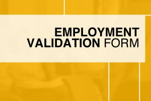 Employment Validation Form