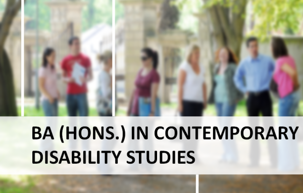 BA Honours in Contemporary Disability Studies
